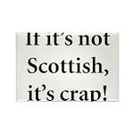 Scottish Crap Rectangle Magnet