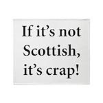 Scottish Crap Throw Blanket