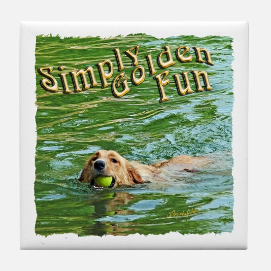 Simply Golden Fun Tile Coaster