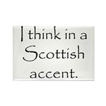 Scottish Accent Rectangle Magnet (100 pack)