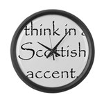 Scottish Accent Large Wall Clock