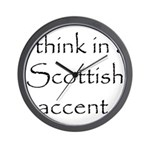 Scottish Accent Wall Clock