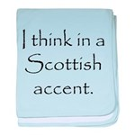 Scottish Accent baby blanket