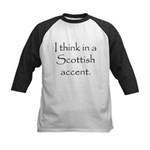 Scottish Accent Kids Baseball Jersey