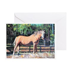 Palomino Horse by Riccoboni Greeting Card