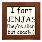 Fart Ninjas Framed Tile