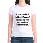 Idiot Proof Jr. Ringer T-Shirt