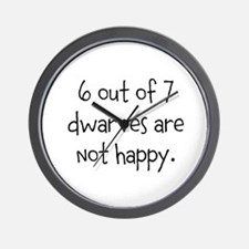 Happy Dwarves Wall Clock
