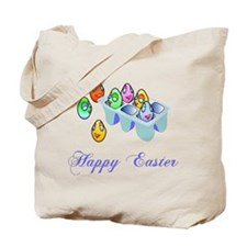 Coloring Easter Eggs Tote Bag
