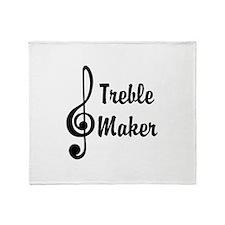 Treble Maker Throw Blanket