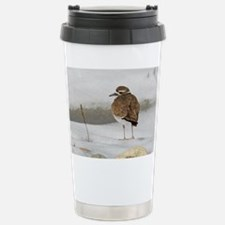 Killdeer in snow Stainless Steel Travel Mug