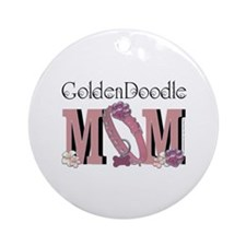 GoldenDoodle MOM Ornament (Round)