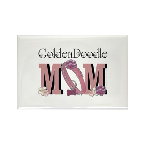 GoldenDoodle MOM Rectangle Magnet