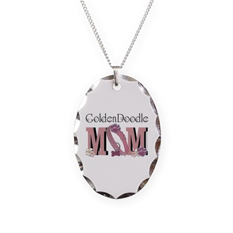 GoldenDoodle MOM Necklace Oval Charm