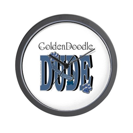 GoldenDoodle DUDE Wall Clock