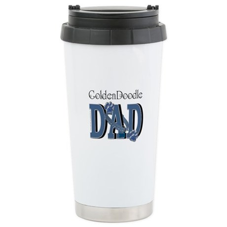 GoldenDoodle DAD Stainless Steel Travel Mug