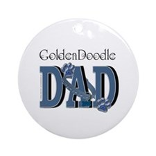 GoldenDoodle DAD Ornament (Round)