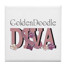 GoldenDoodle DIVA Tile Coaster