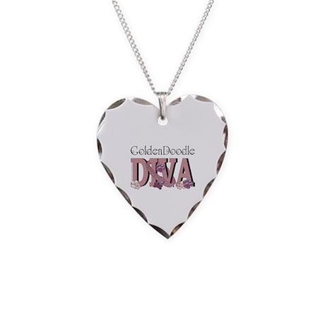 GoldenDoodle DIVA Necklace Heart Charm
