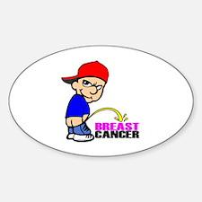 Take No Prisoners Breast Canc Sticker (Oval)