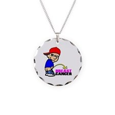 Take No Prisoners Breast Canc Necklace Circle Char
