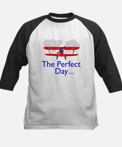 The Perfect Day Biplane Kids Baseball Jersey