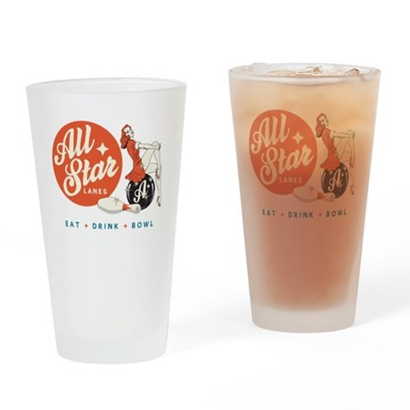 All Star Bowling Drinking Glass