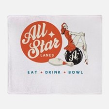 All Star Bowling Throw Blanket