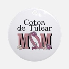 Coton de Tulear MOM Ornament (Round)