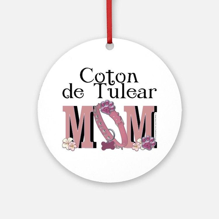 Coton de Tulear MOM Ornament (Round)
