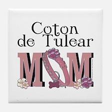 Coton de Tulear MOM Tile Coaster