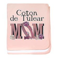 Coton de Tulear MOM baby blanket