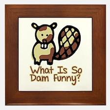 Dam Funny Beaver Framed Tile