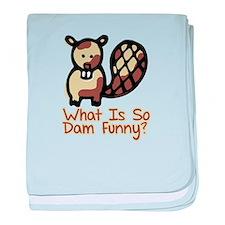 Dam Funny Beaver baby blanket