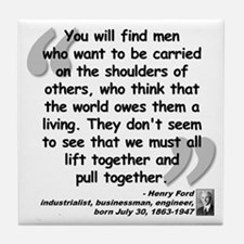 Ford Together Quote Tile Coaster