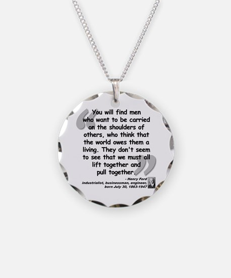 Ford Together Quote Necklace