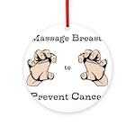 Prevent Cancer Ornament (Round)