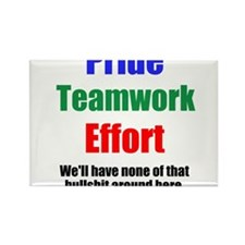 Teamwork Pride Rectangle Magnet
