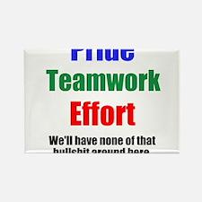 Teamwork Pride Rectangle Magnet