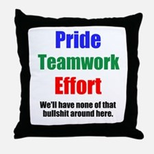 Teamwork Pride Throw Pillow