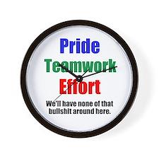 Teamwork Pride Wall Clock