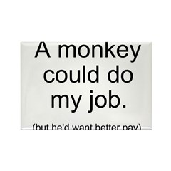 Monkey Job Rectangle Magnet