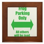 Frog Parking Framed Tile