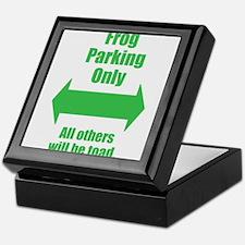 Frog Parking Keepsake Box