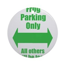 Frog Parking Ornament (Round)