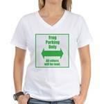 Frog Parking Women's V-Neck T-Shirt
