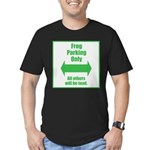 Frog Parking Men's Fitted T-Shirt (dark)