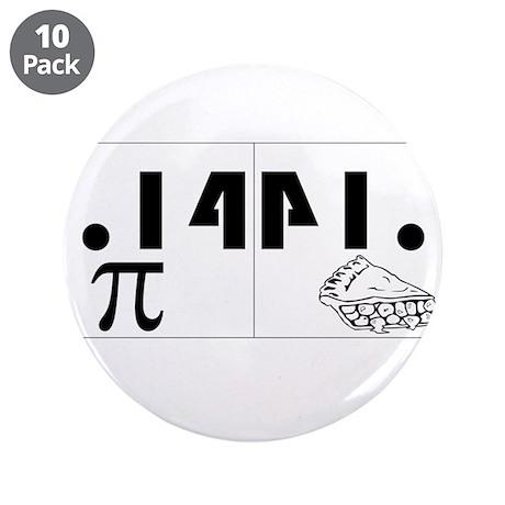 "Pi Pie 3.5"" Button (10 pack)"