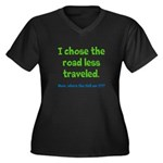 Where Am I Women's Plus Size V-Neck Dark T-Shirt