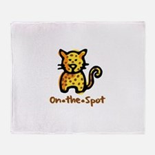 On The Spot Leopard Throw Blanket